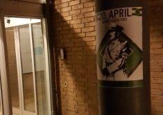 Plakatopsætning i forbindelse med Hitlers fødselsdag – Farum