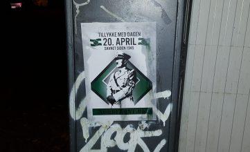 Hitler-plakater i Odense