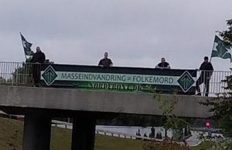 Banneraktion i Nyborg