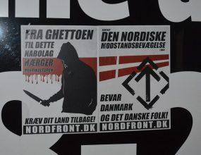 Plakataktion i Langå