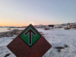 Klistermærker på Grønland